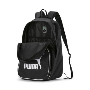 Thumbnail 4 of Originals Retro Woven Backpack, Puma Black, medium