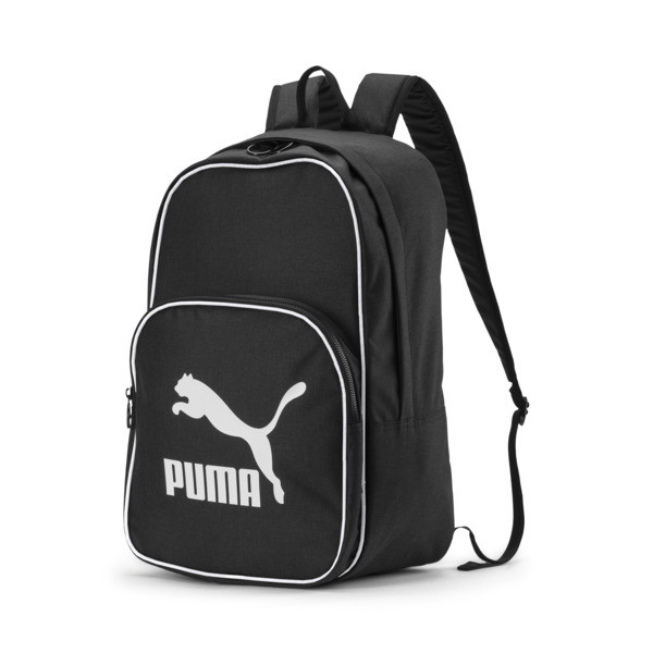 Originals Retro Woven Backpack, Zwart | PUMA