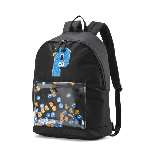 PUMA x SESAME STREET Kids' Sport Backpack, Puma Black, large