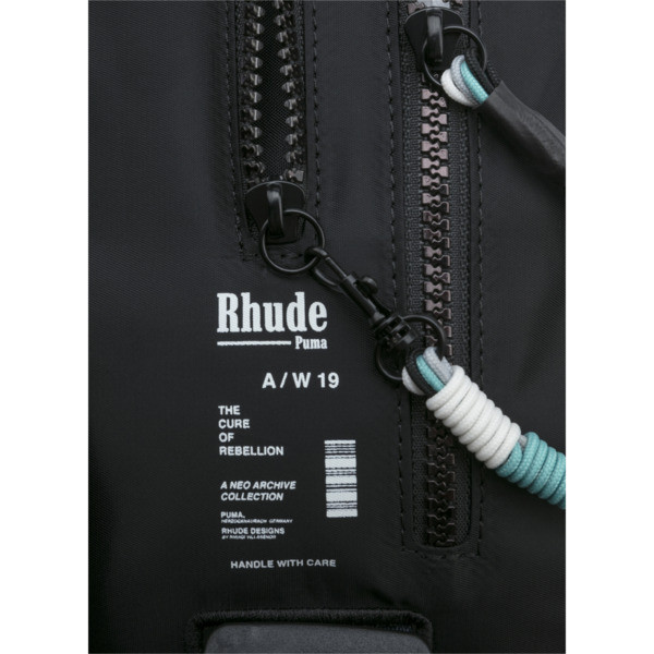 PUMA x RHUDE Waist Bag, Puma Black, large