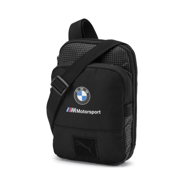 BMW M Motorsport Small Portable Bag, Puma Black, large