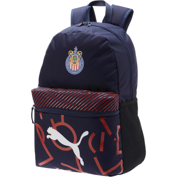 Chivas DNA Backpack, Peacoat-Puma Red, large