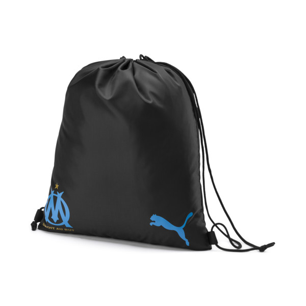Olympique de Marseille Gym Sack, Puma Black-Bleu Azur, large