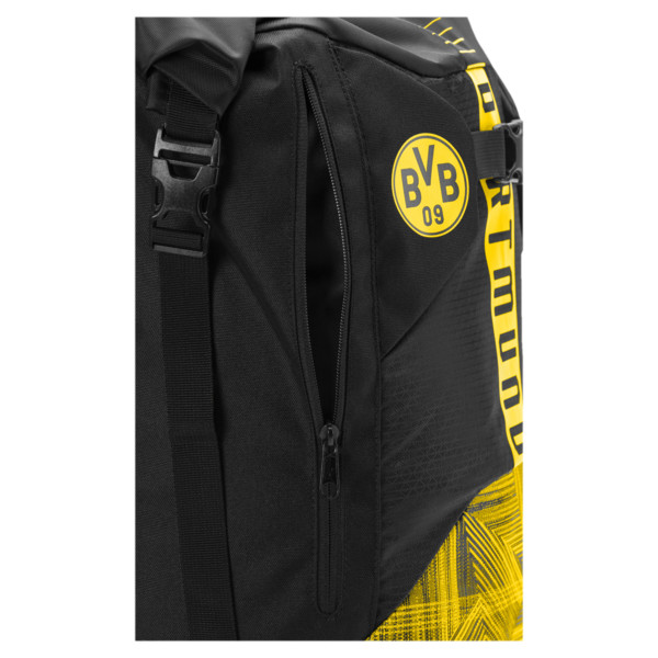 Sac à dos BVB Football Culture, Puma Black-Cyber Yellow, large