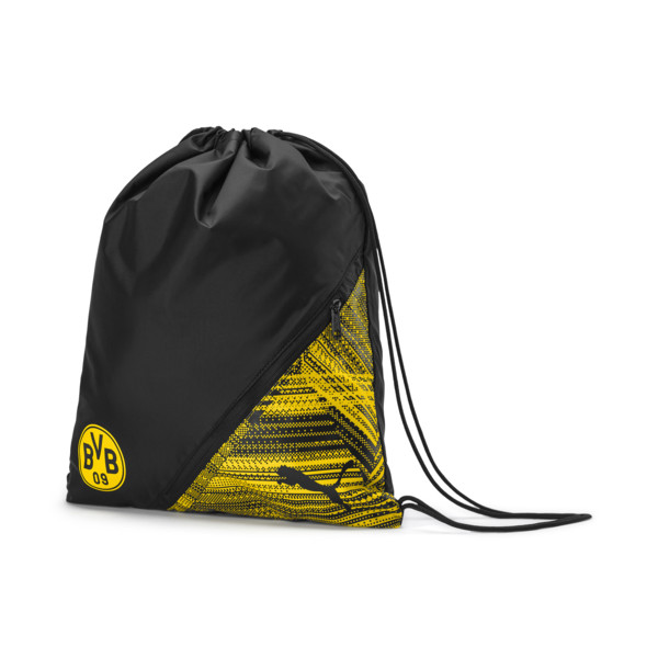 BVB Football Culture Gym Sack, Puma Black-Cyber Yellow, large