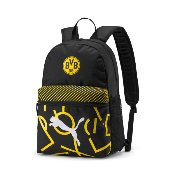 BVB DNA Backpack, Puma Black-Cyber Yellow, large