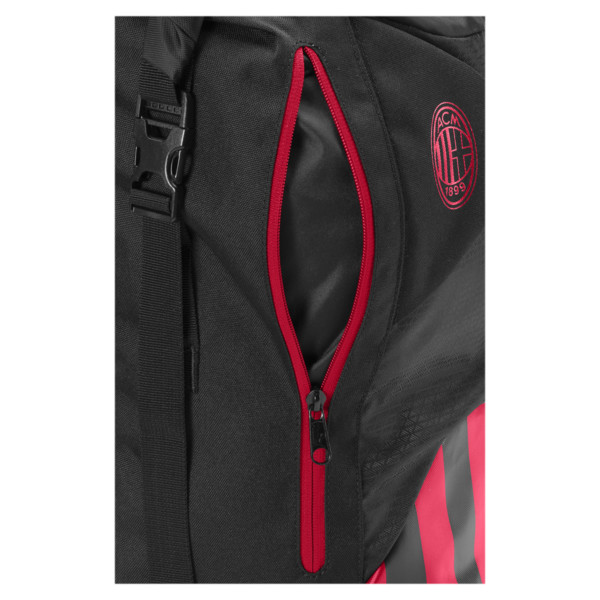 AC Milan Football Culture Rolltop Backpack, Puma Black-Tango Red, large