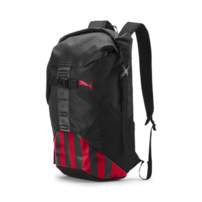 Thumbnail 1 of AC Milan Football Culture Rolltop Backpack, Puma Black-Tango Red, medium