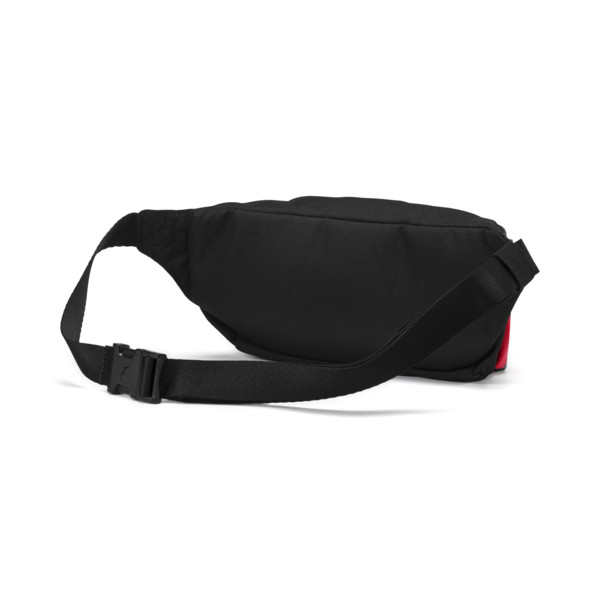AC Milan Football Culture Waist Bag, Puma Black-Tango Red, large