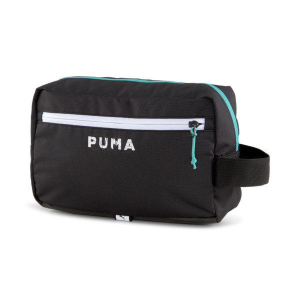 It\\'s just the essentials with our Basketball Pro Travel Pouch. Featuring a sleek carrying option with a spacious main compartment and cool PUMA Hoops graphics, this bag is a must-have. | PUMA Basketball Pro Travel Pouch in Black
