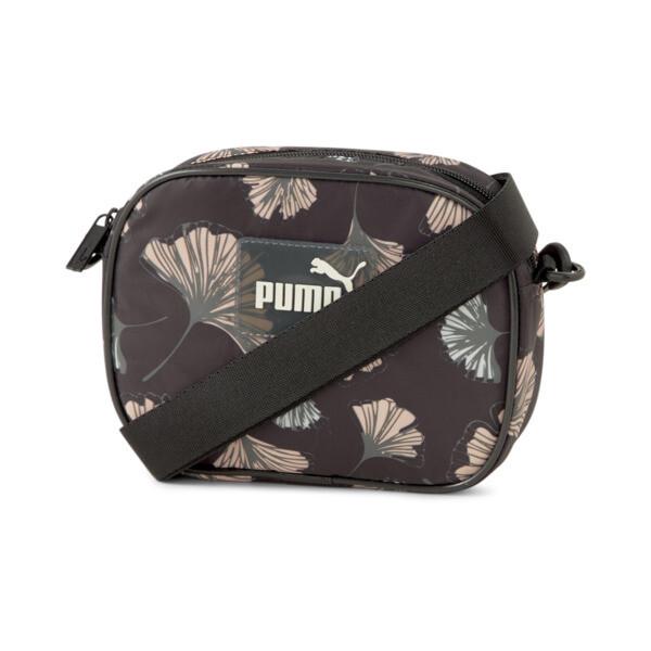puma pop women's cross body bag in black/aop
