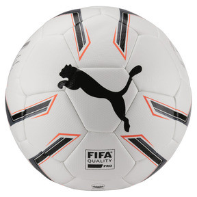 Thumbnail 1 of ELITE 1.2 FUSION Pro Soccer Ball, White-Black-Fiery Coral, medium