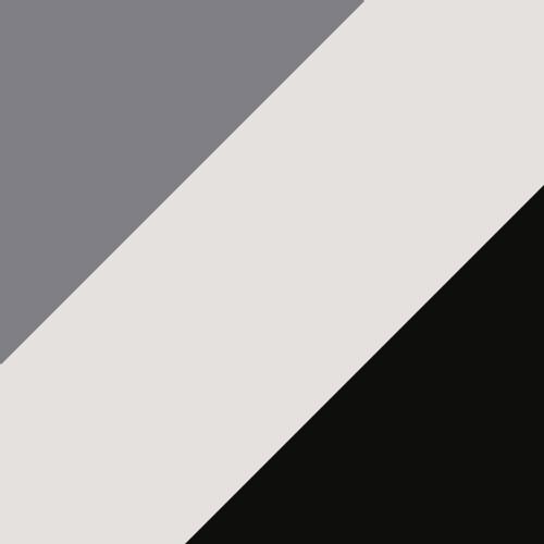 White-Black-Silver