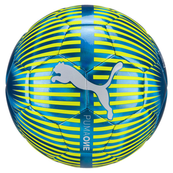 ONE Chrome Fußball, Blue-White-Yellow, large