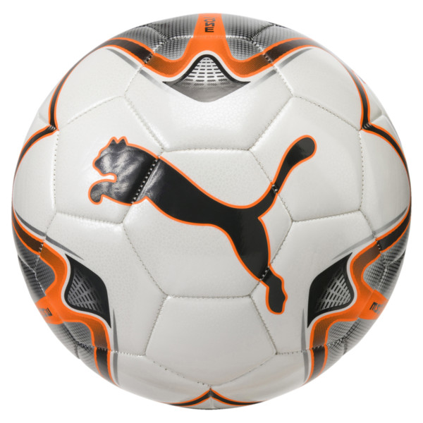 PUMA ONE Star ball, White-Shocking Orange-Silver, large
