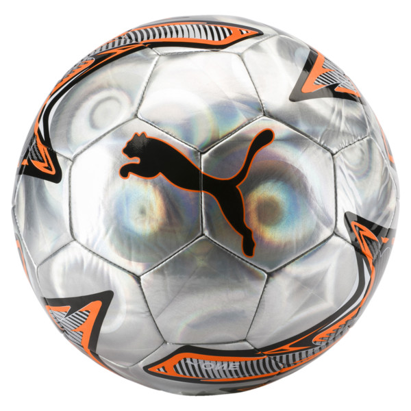 PUMA ONE Laser ball, Silver-Shocking Orange-Black, large