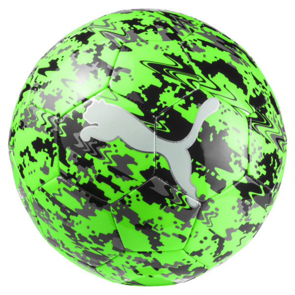PUMA ONE Laser ball, Green Gecko-Black-Gray, large