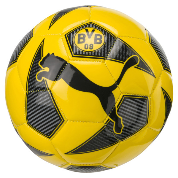 Mini pallone BVB Fan, Cyber Yellow-Puma Black, Grande