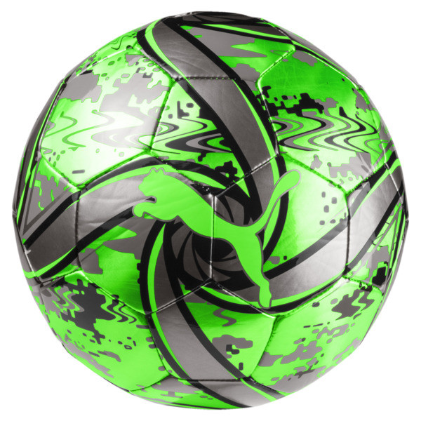 FUTURE Flare Football, Green Gecko-Black-Gray, large