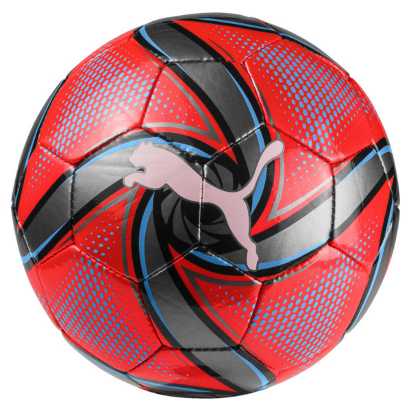 FUTURE Flare Mini Trainingsball, Red Blast-Bleu Azur-Black, large