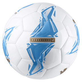 Thumbnail 2 of Olympique de Marseille Fan Ball, Bleu Azur-Puma White, medium