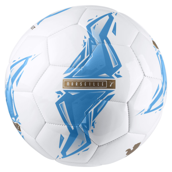 Olympique de Marseille Fan Ball, Bleu Azur-Puma White, large