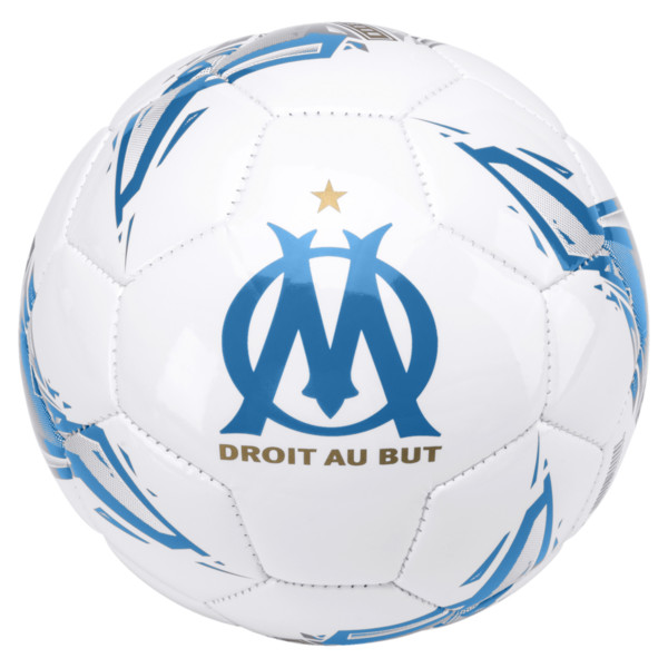 Olympique de Marseille Fan Mini Ball, Puma White-Bleu Azur, large