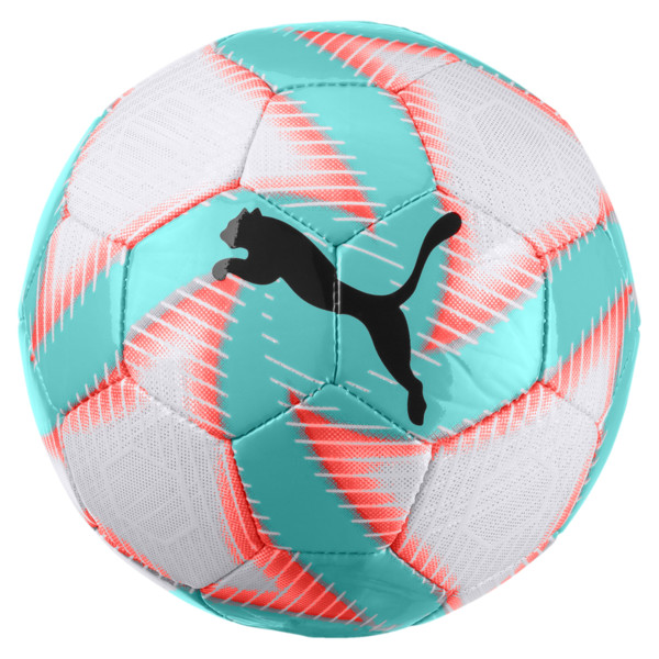 FUTURE Flare Mini Soccer Ball, White-Turquoise-Nrgy Red-Blk, large