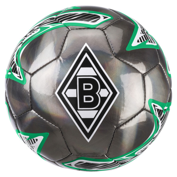 Borussia Mönchengladbach PUMA ONE Laser Mini Ball, Puma Black-Bright Green, large