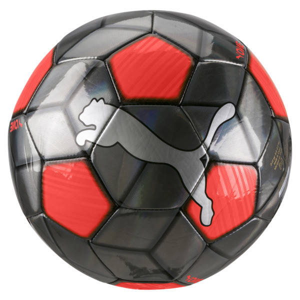 PUMA One Strap Soccer Ball, Silver-Nrgy Red-Puma Black, large