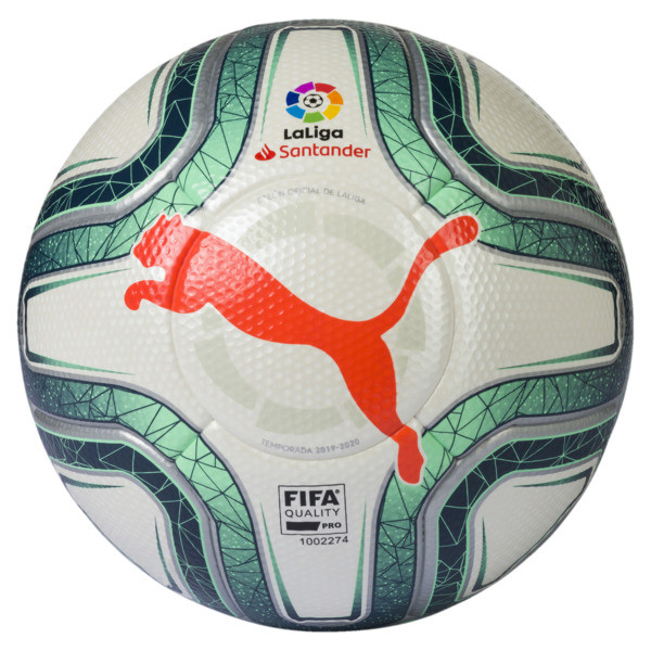 La Liga 1 FIFA Quality Pro Soccer Ball, Puma White-Green-Nrgy Red, large