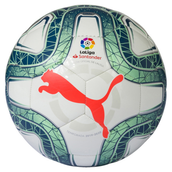 La Liga 1 Mini Ball, White-Green Glimmer-Nrgy Red, large