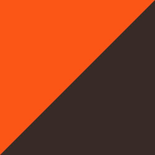 Shocking Orange-Black-White