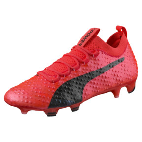 Thumbnail 1 of evoPOWER Vigor 3D 1 FG Men's Firm Ground Soccer Cleats, Coral-Black-Toreador, medium