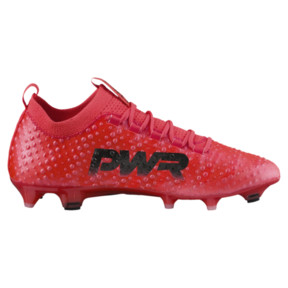 Thumbnail 3 of evoPOWER Vigor 3D 1 FG Men's Firm Ground Soccer Cleats, Coral-Black-Toreador, medium