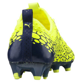Thumbnail 4 of evoPOWER Vigor 1 Graphic FG Men's Firm Ground Soccer Cleats, Yellow-Silver-Blue, medium