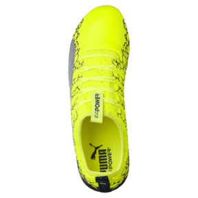 Thumbnail 5 of evoPOWER Vigor 1 Graphic FG Men's Firm Ground Soccer Cleats, Yellow-Silver-Blue, medium