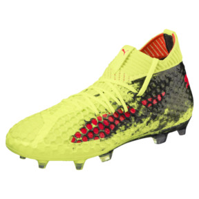 Thumbnail 1 of FUTURE 18.1 NETFIT FG/AG JR Soccer Cleats, Yellow-Red-Black, medium