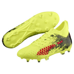 Thumbnail 2 of FUTURE 18.3 FG/AG Men's Soccer Cleats, Yellow-Red-Black, medium