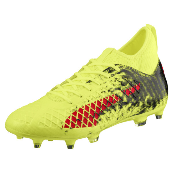 FUTURE 18.3 FG/AG Men's Soccer Cleats, Yellow-Red-Black, large