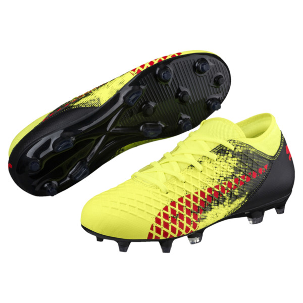 FUTURE 18.4 FG/AG JR Soccer Cleats, Yellow-Red-Black, large
