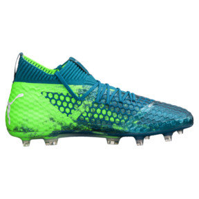 Thumbnail 3 of FUTURE 18.1 NETFIT FG/AG Men's Soccer Cleats, Deep Lagoon-White-Green, medium