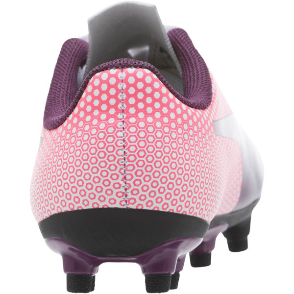 Spirit FG JR Soccer Cleats, White-Purple-Pink, large