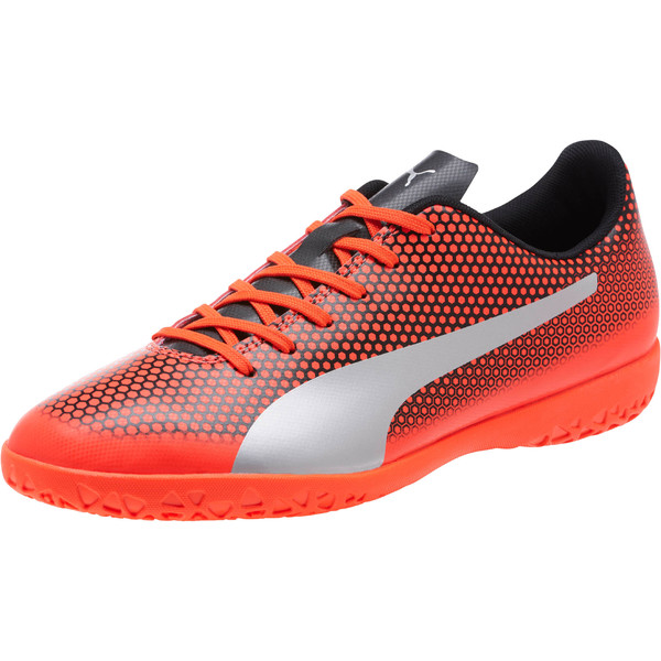 PUMA Spirit IT Men's Soccer Shoes, Red-Silver-Black, large