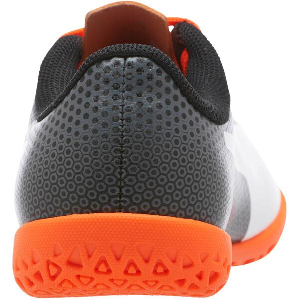 PUMA Spirit IT JR Soccer Cleats, Black-White-Orange, large