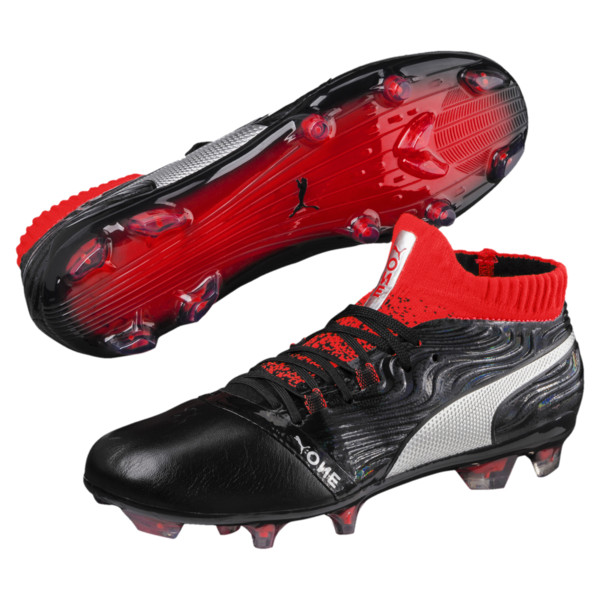 ONE 18.1 FG JR Soccer Cleats, Black-Silver-Red, large