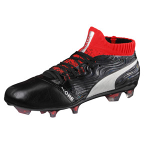 Thumbnail 1 of ONE 18.1 FG JR Soccer Cleats, Black-Silver-Red, medium