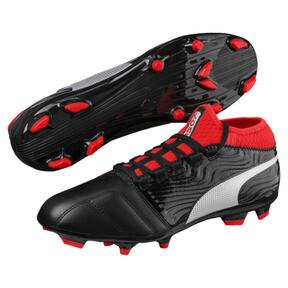 Thumbnail 2 of ONE 18.3 FG Men's Soccer Cleats, Black-Silver-Red, medium