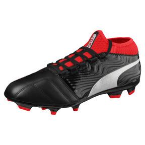 Thumbnail 1 of ONE 18.3 FG Men's Soccer Cleats, Black-Silver-Red, medium