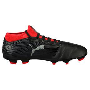 Thumbnail 3 of ONE 18.3 FG Men's Soccer Cleats, Black-Silver-Red, medium